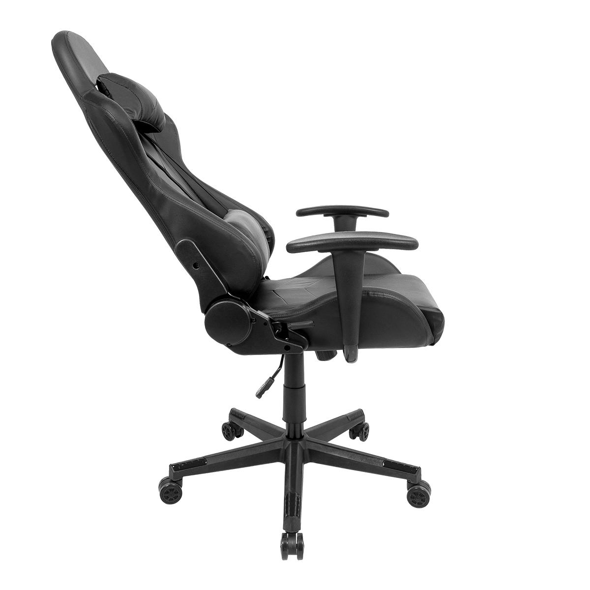 Conjunto Mesa Gamer LED Pelegrin PEL-004P Preta e Cadeira Gamer Pelegrin PEL-3019 Preta