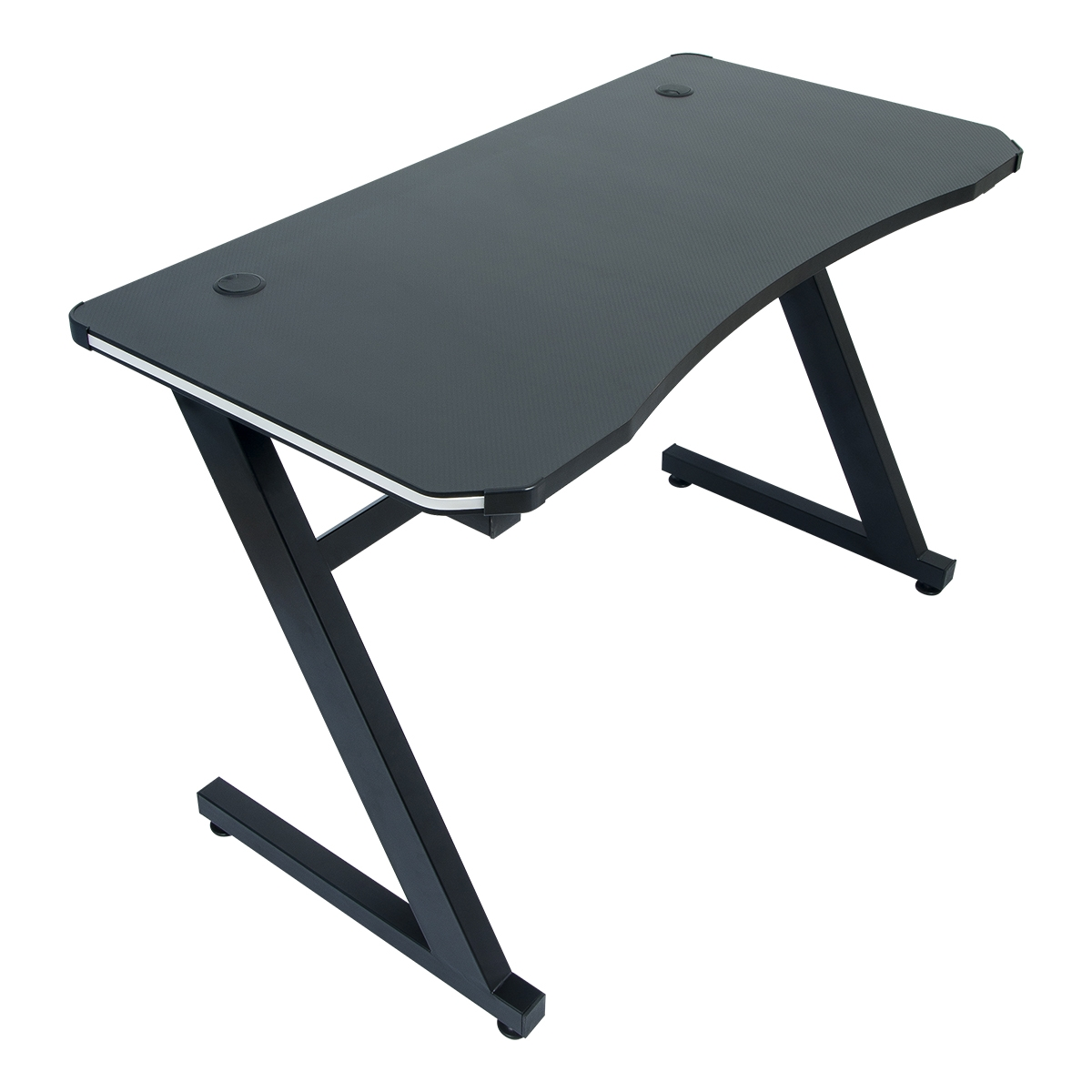 Conjunto Mesa Gamer LED Pelegrin PEL-007P Preta e Cadeira Gamer Pelegrin PEL-3005 Azul, Branca e Preta