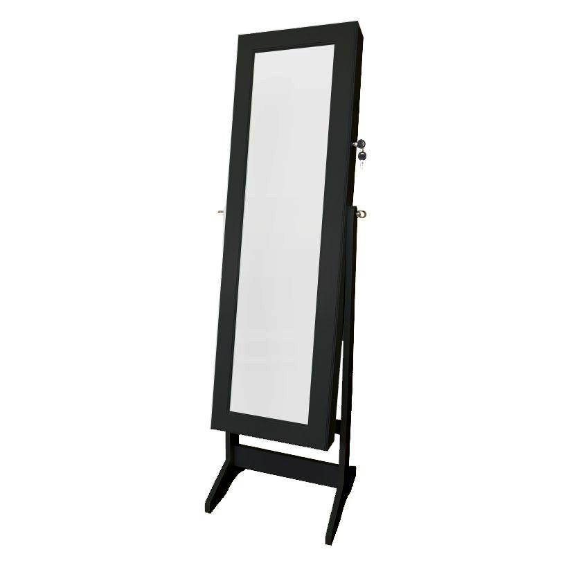 Espelho Armário Porta Joias e Acessórios W6003 Preto