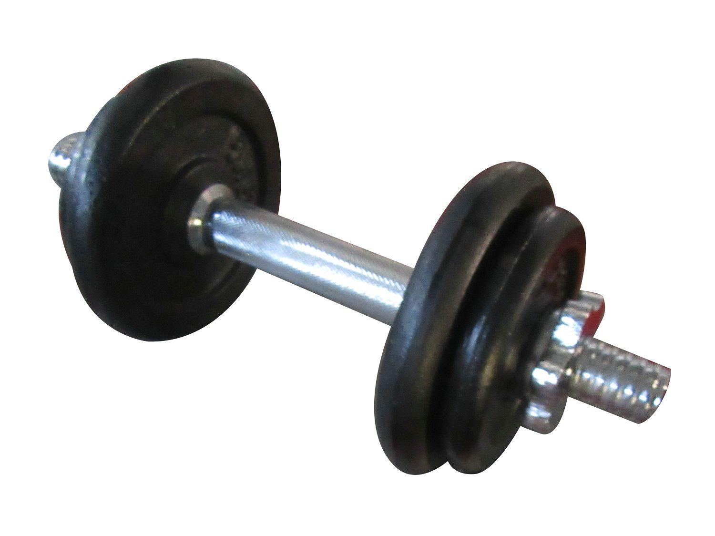 Halter Cromado com Anilhas em Ferro Fundido Pelegrin PEL-B75A 10 kgs