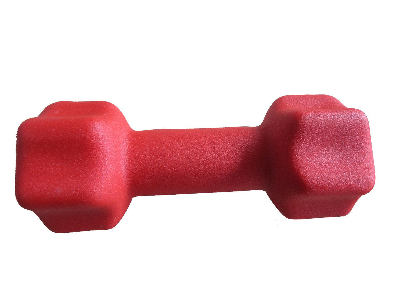 Haltere em Ferro Fundido Revestido com Neoprene Pelegrin PEL-002D 2kg - Vermelho