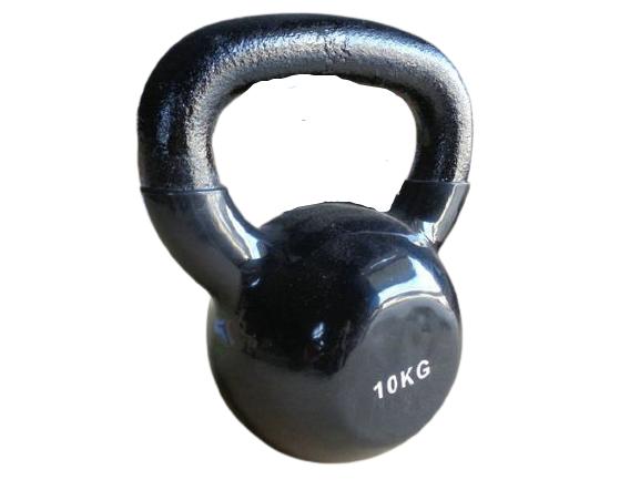 Haltere Kettlebell em ferro fundido Pelegrin PEL-10KB Emborrachado 10kg - Preto