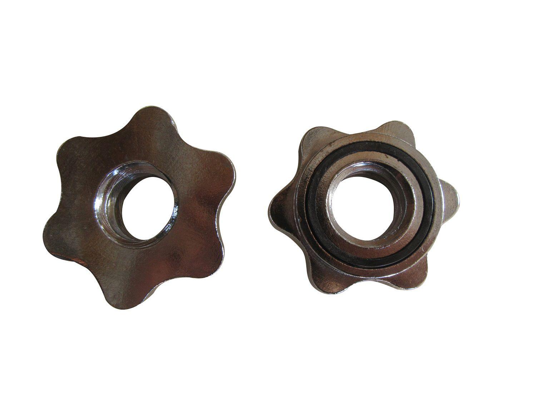 Kit 10 Estrelas de Rosca Rápida em Aço Maciço de 1 polegada Pelegrin PEL-CSC1 Cromado 2,5cm