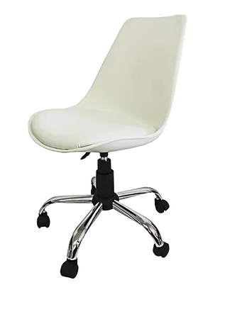 Kit 2 Cadeiras em ABS Pelegrin PEL-C032A Branca Design Eames