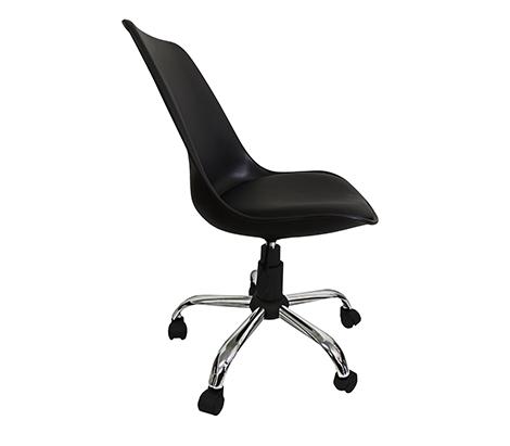 Kit 2 Cadeiras em ABS Pelegrin PEL-C032A Preta Design Eames