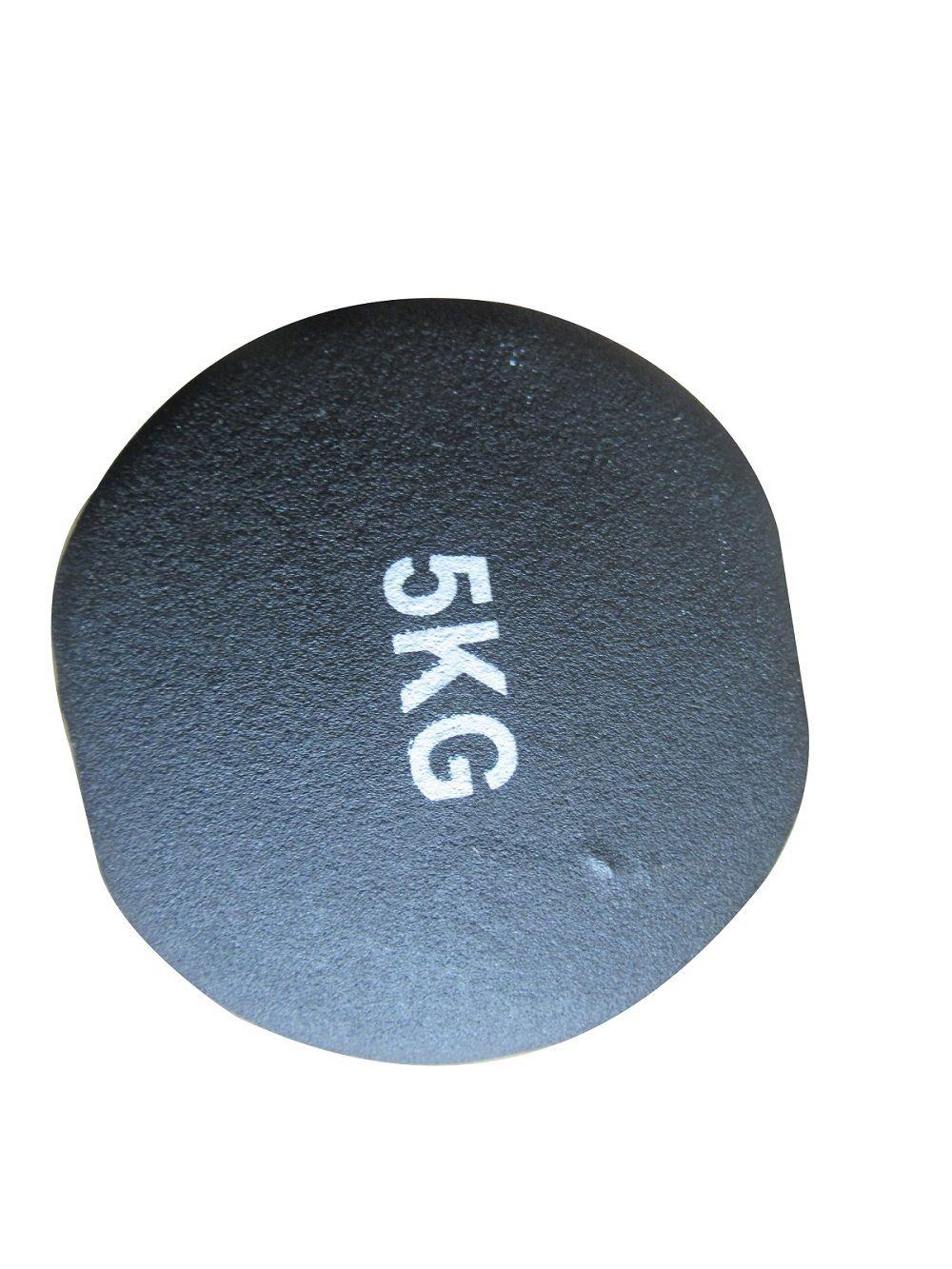 Kit 2 Halteres em Ferro Fundido Revestido com Neoprene Pelegrin  PEL-05DB 5kg - Preto