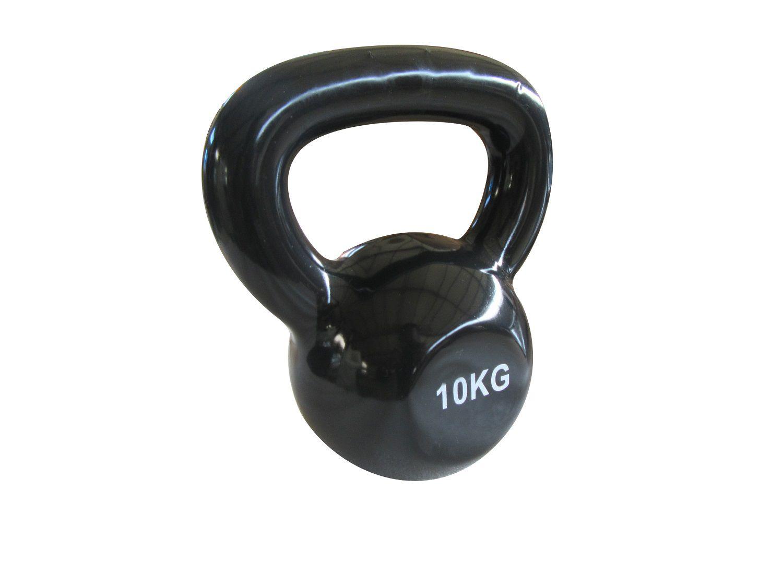 Kit 2 Halteres Kettlebell em ferro fundido Pelegrin PEL-10KB Emborrachado 10kg - Preto