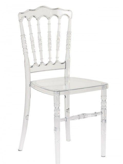 Kit Com 4 Cadeiras Design Dior Cristal Pelegrin Acrílico Transparente Pel- 0505