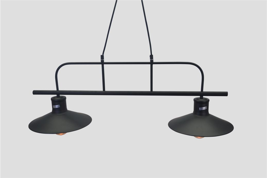 Lustre Industrial Retro Hall Duo em Metal Pelegrin PEL-033