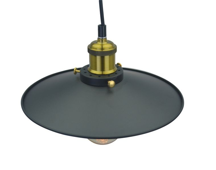 Lustre Pendente Industrial Retro Hall em Metal Pelegrin PEL- 032