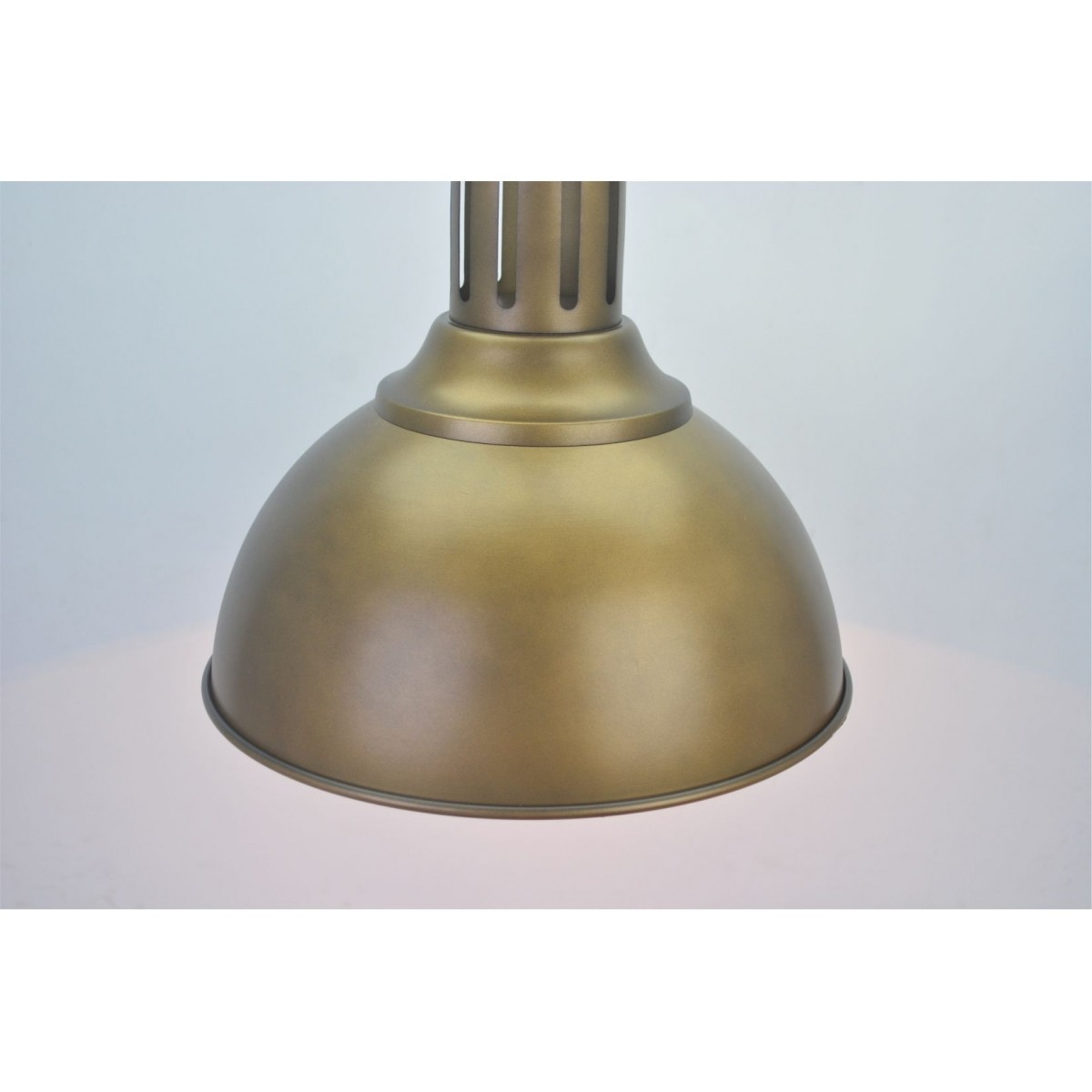 Lustre Pendente Retro Industrial VIII Metal Dourado Pelegrin PEL-050