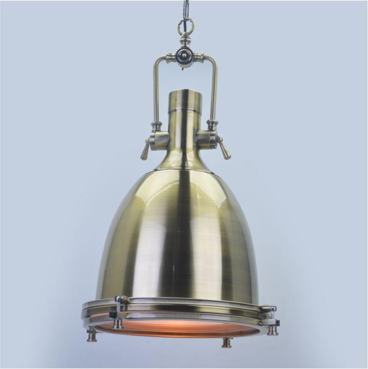 Lustre Pendente Retro Scuba I Metal Cor Bronze Pelegrin PEL-043