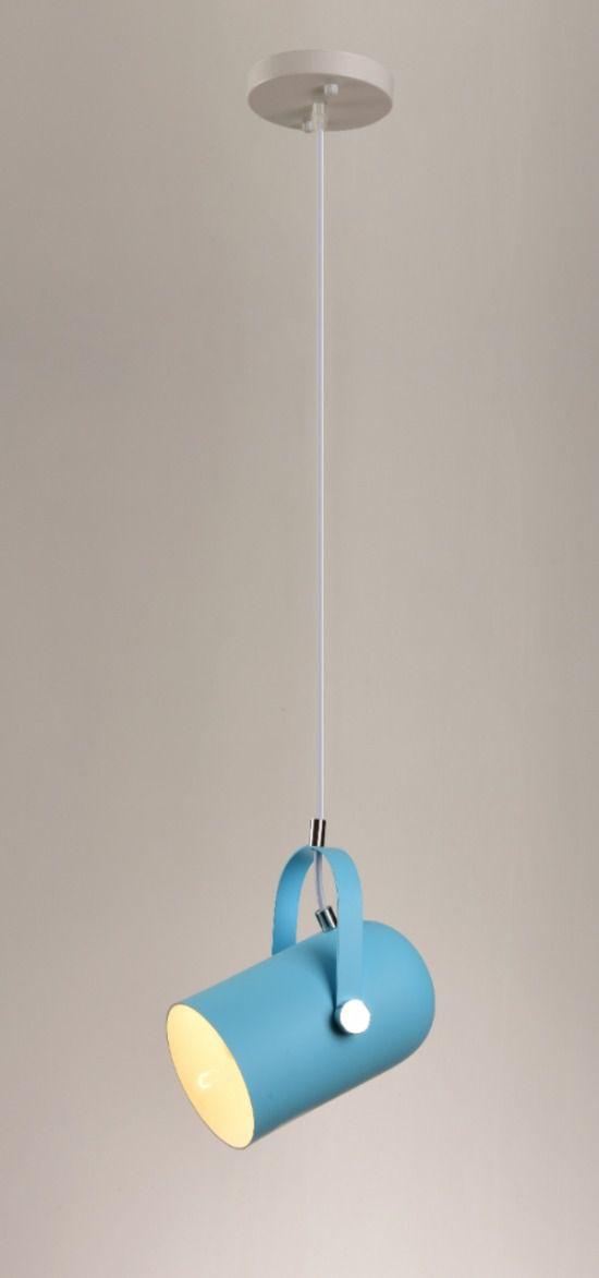 Lustre Pendente Stage Pelegrin PEL-065 Metal Azul