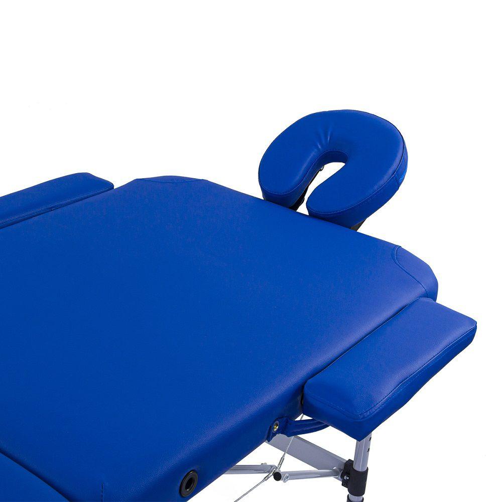 Maca Portátil Dobrável e Reclinável Pelegrin PEL-2533 em Couro PU Azul