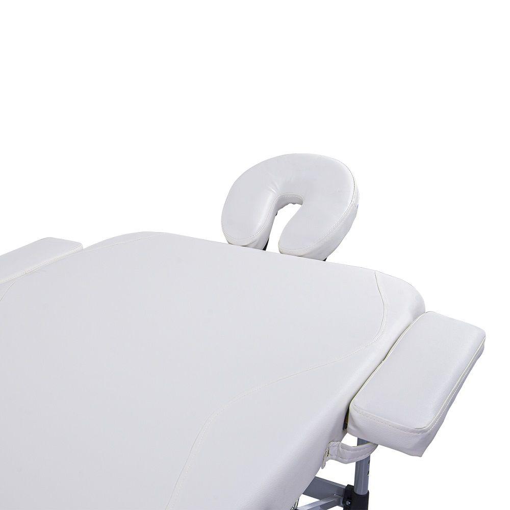 Maca Portátil Dobrável e Reclinável Pelegrin PEL-5533 em Couro PU Branco