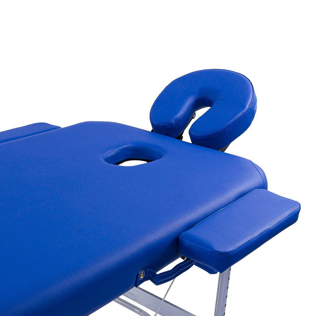 Maca Portátil Dobrável e Reclinável Pelegrin PEL-6530 em Couro PU Azul