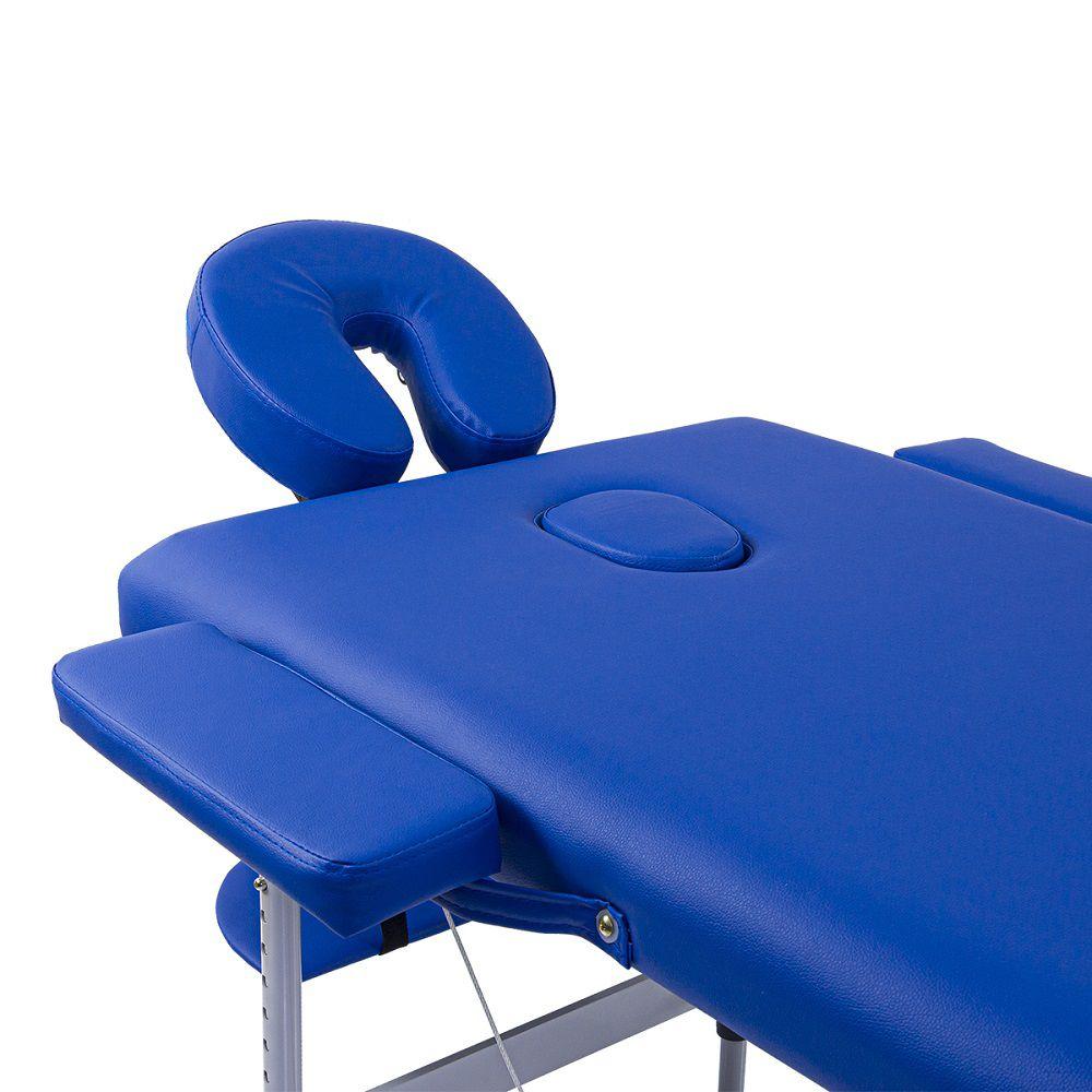 Maca Portátil Dobrável Pelegrin PEL-2520 em Couro PU Azul