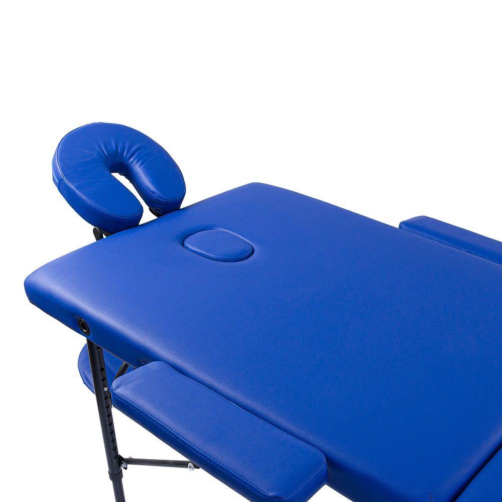 Maca Portátil Dobrável Pelegrin PEL-3322 em Couro PU Azul