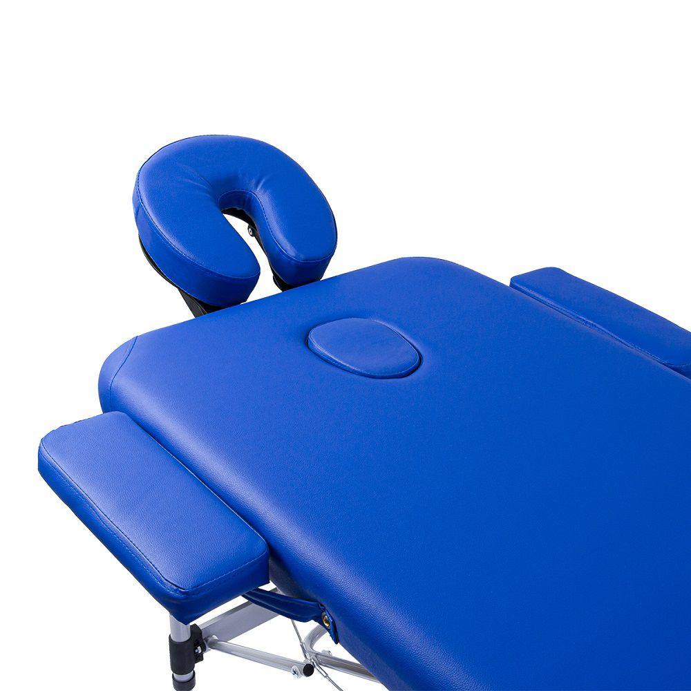 Maca Portátil Dobrável Pelegrin PEL-6500 em Couro PU Azul
