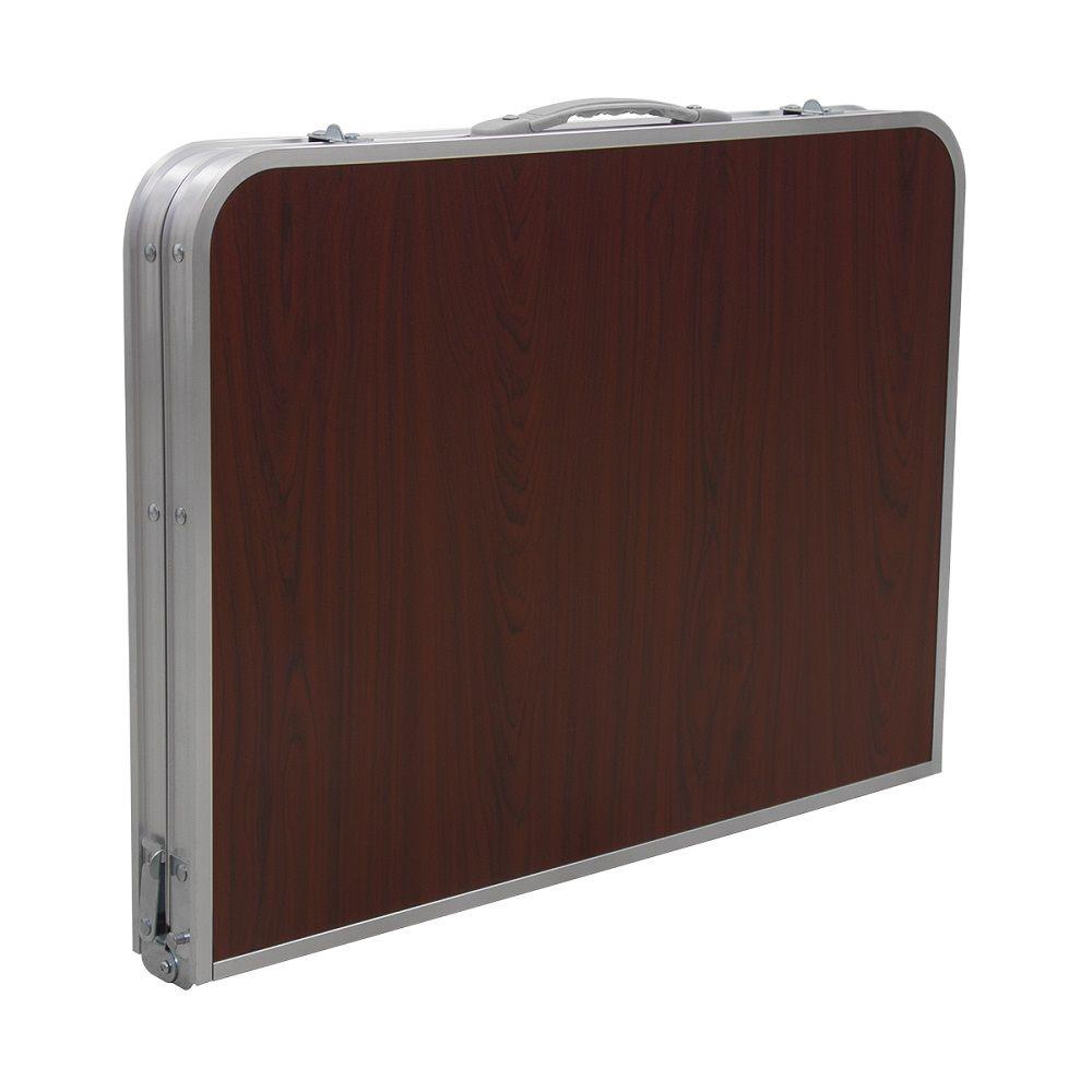 Mesa Dobrável Pelegrin PEL-014B Portátil em Metal Para Notebook