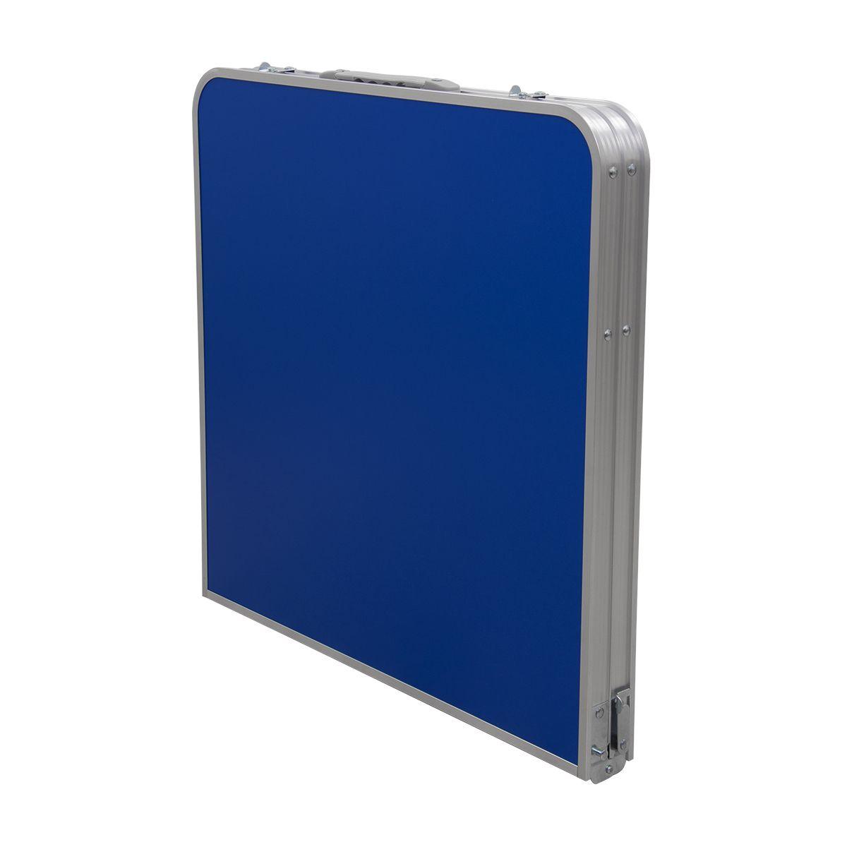 Mesa Dobrável Pelegrin PEL-0210 em Metal Azul Vira Maleta