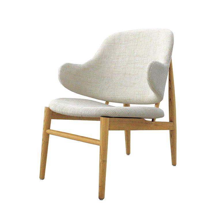 Poltrona Design Moderna Madeira Linho Lina - Orb