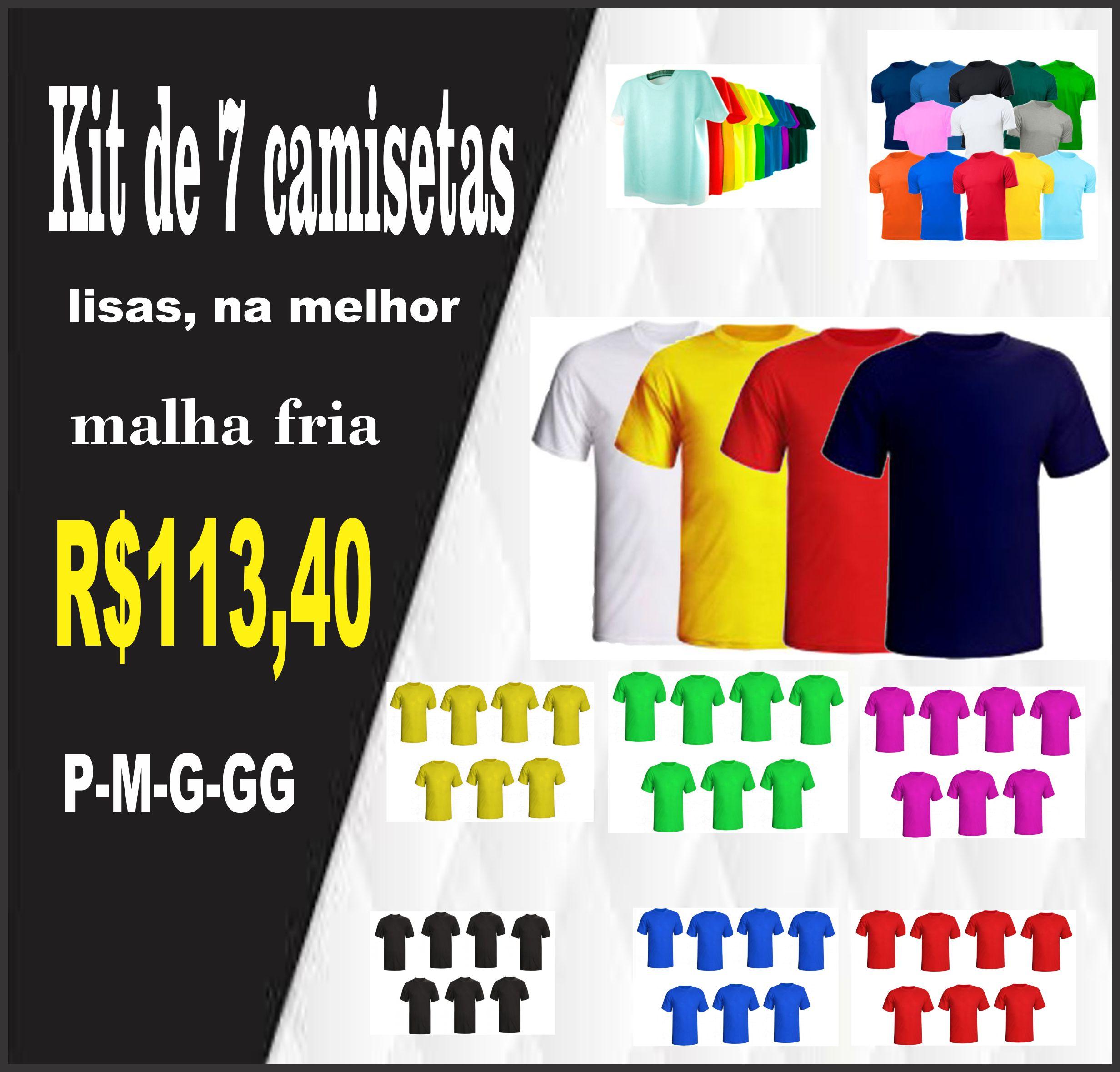 kit 7 camisetas