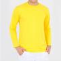 Camiseta manga longa  amarela