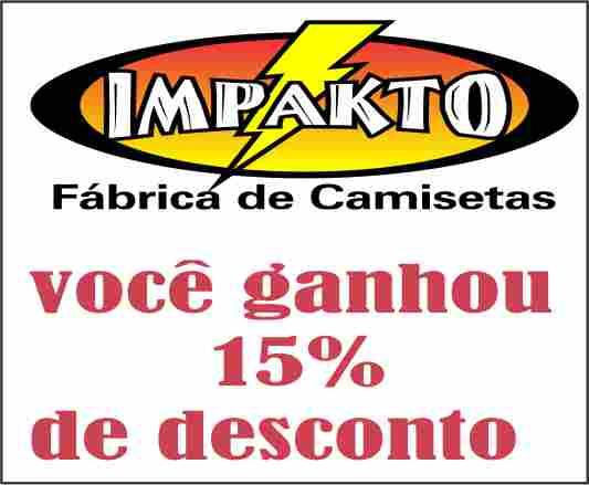 15% DESCONTO EM COMPRAS ACIMA DE R$500,00