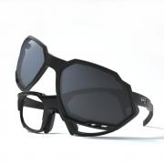Óculos de Grau HB Rush Clip On Matte Black / Gray