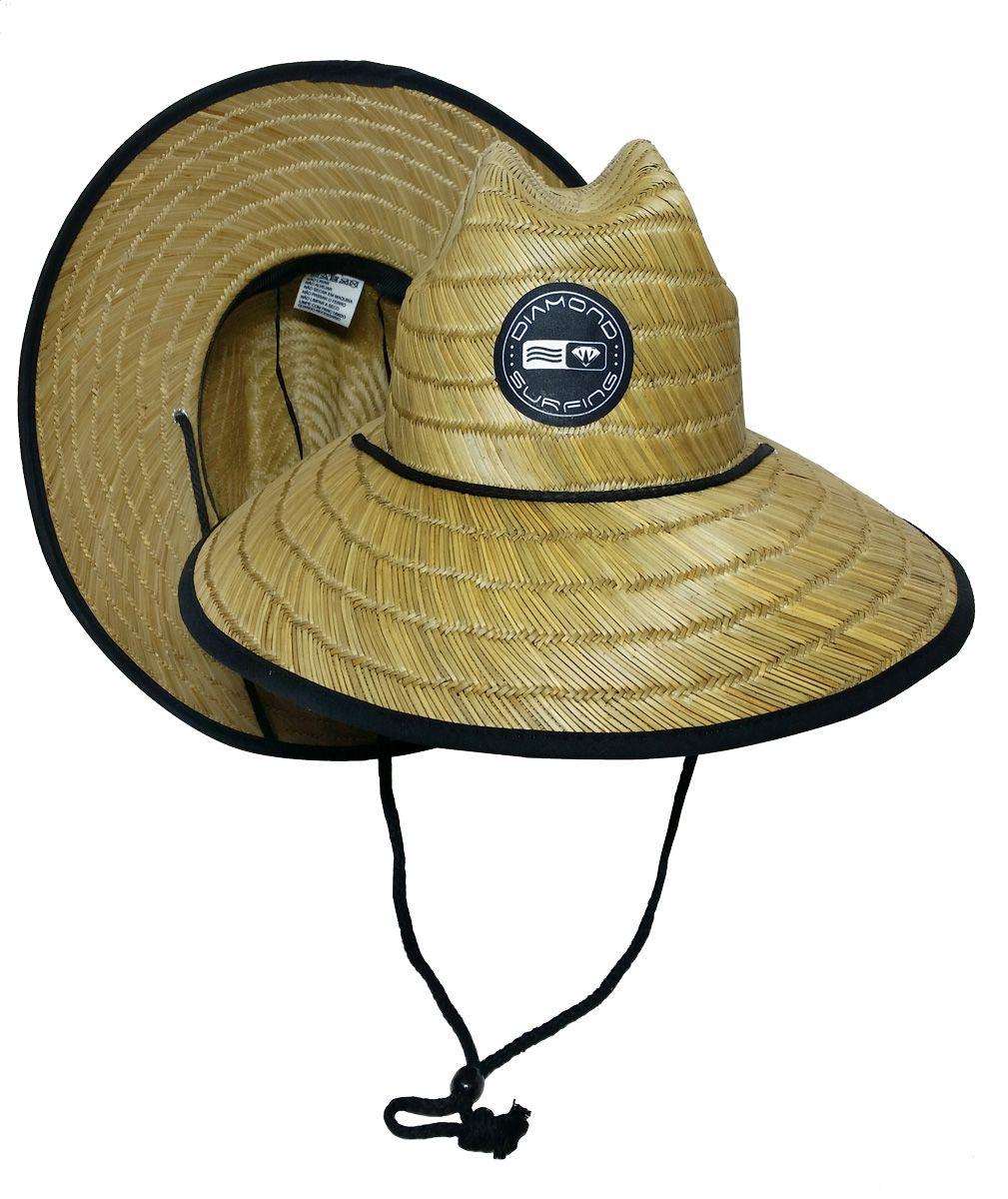 Chapéu de Palha Diamond Surfing - Black