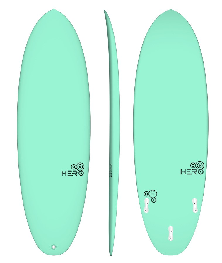 Hero 5'6'' Surfácil Verde