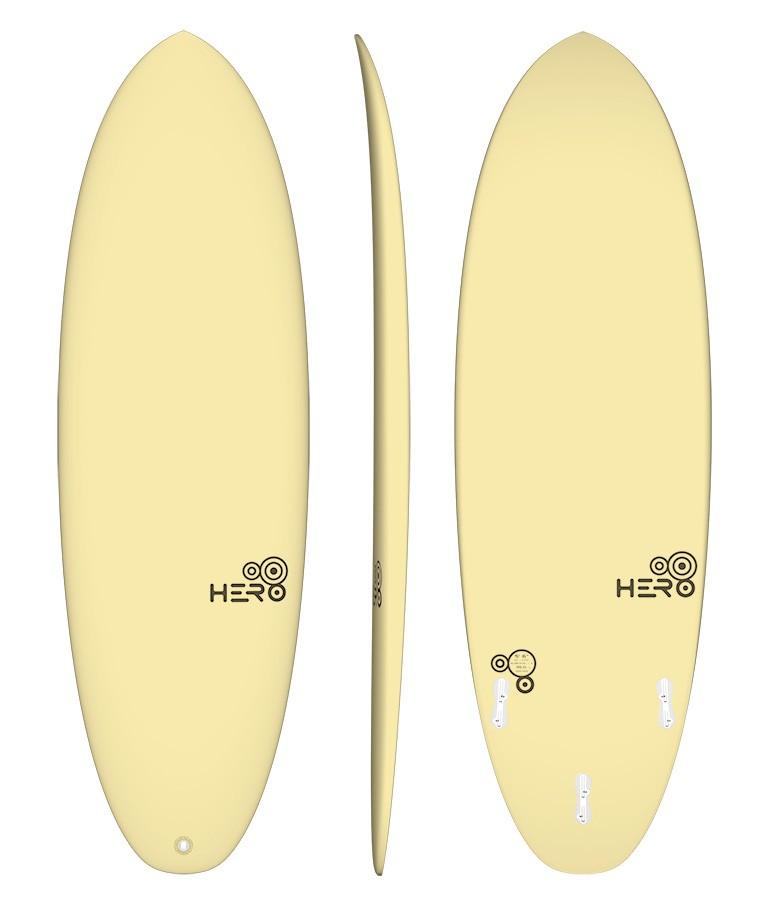 Hero 6'0'' Surfácil Amarelo