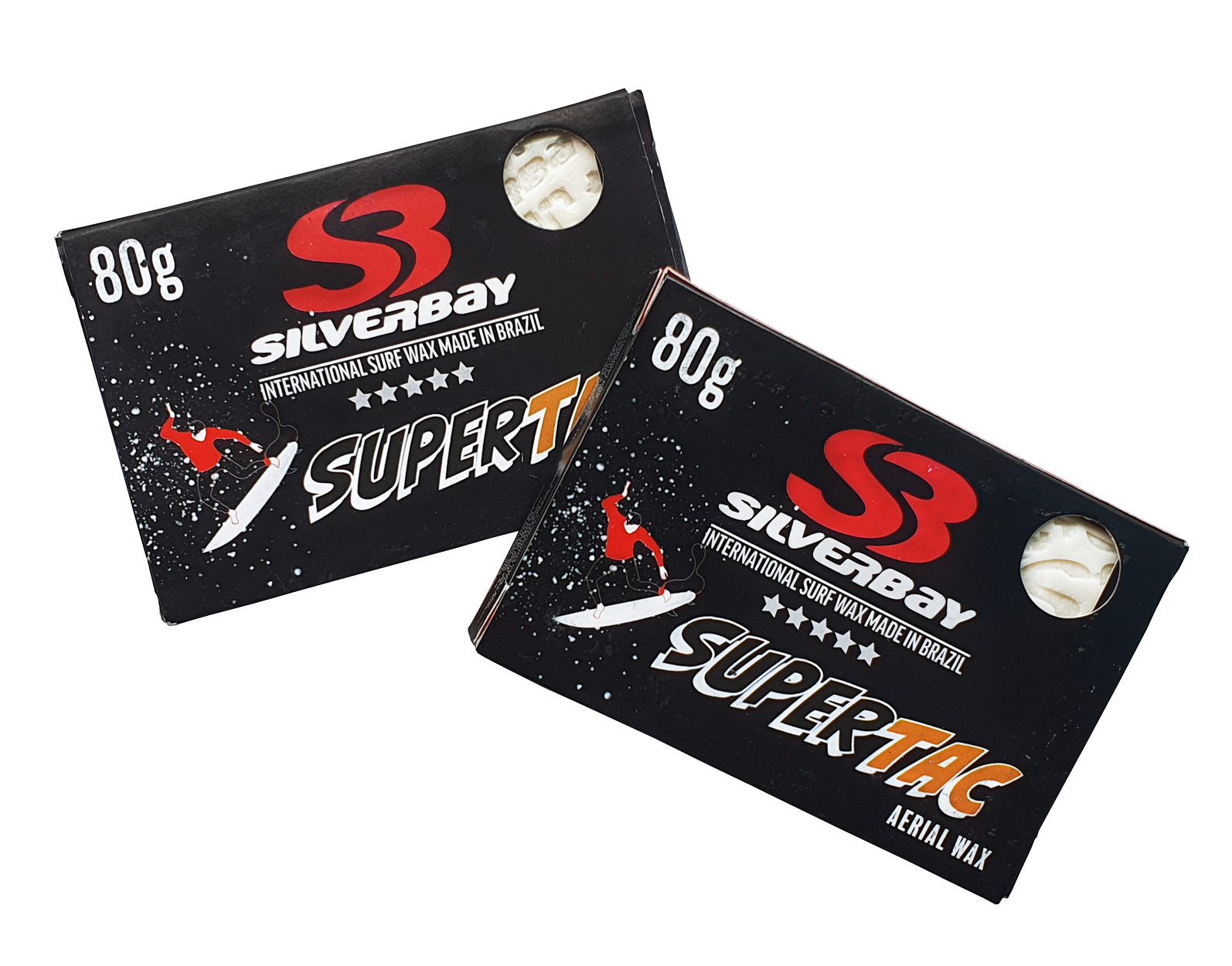 Kit 2 Parafina Silverbay Super Tac Tropical 80g