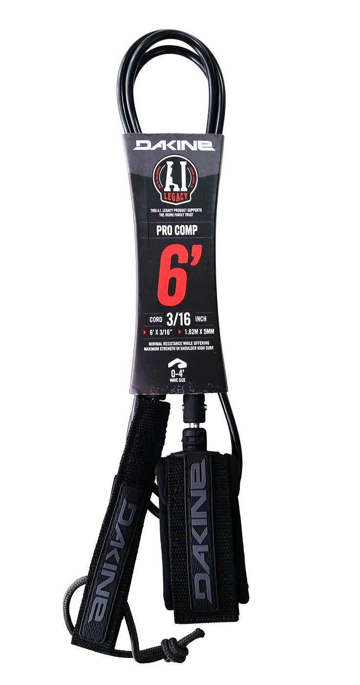 Leash Dakine 6' 3/16 Pro Comp Black