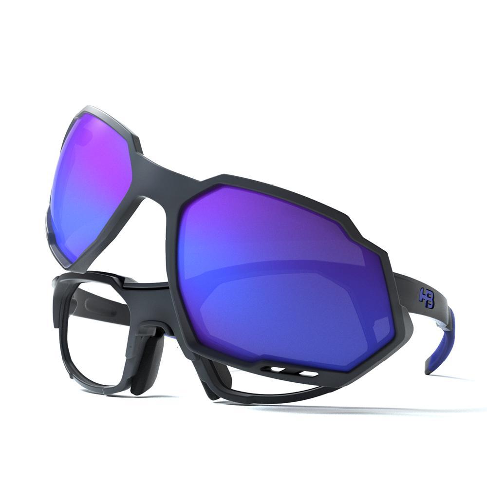 Óculos de Grau HB Rush Clip On Matte Graphite/Blue Chrome