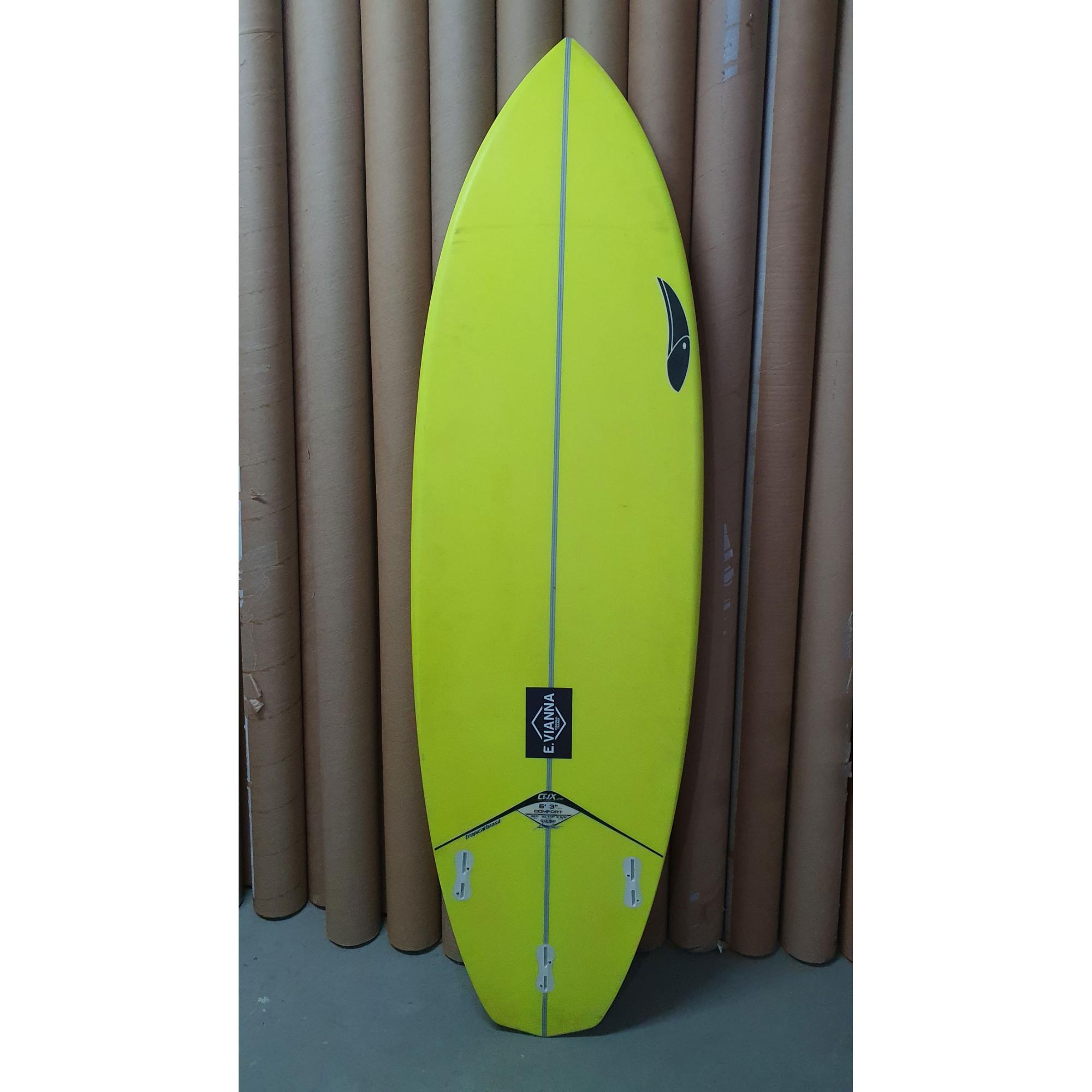"""Prancha Tropical Brasil Comfort 6'3"""" 20 7/8 x 2 5/8 39 L"""
