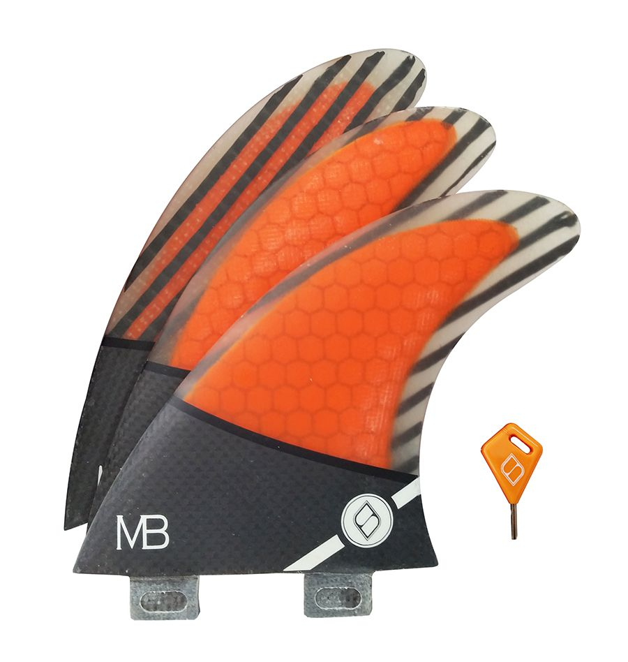 Quilha Shapers Fins MB Carbon Hybrid Small