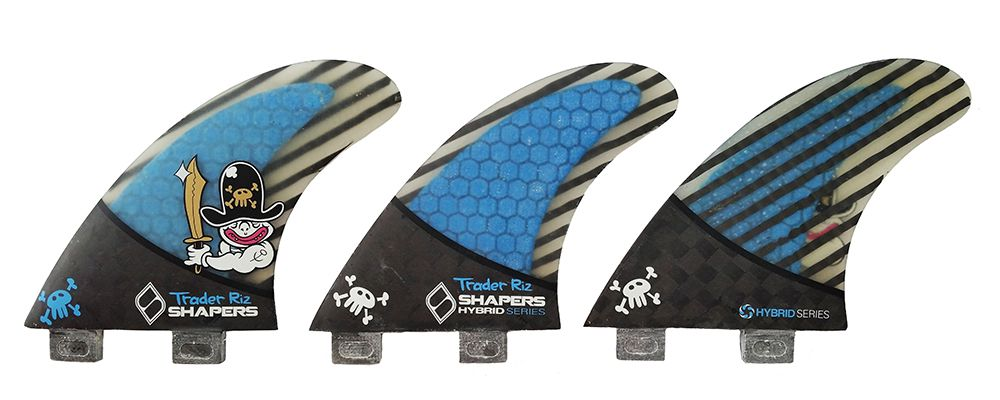 Quilha Shapers Fins T.Riz Carbon Hybrid Medium