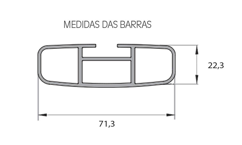 Rack Eqmax Travessa Larga 8761 Sandero Steway 2015/2019