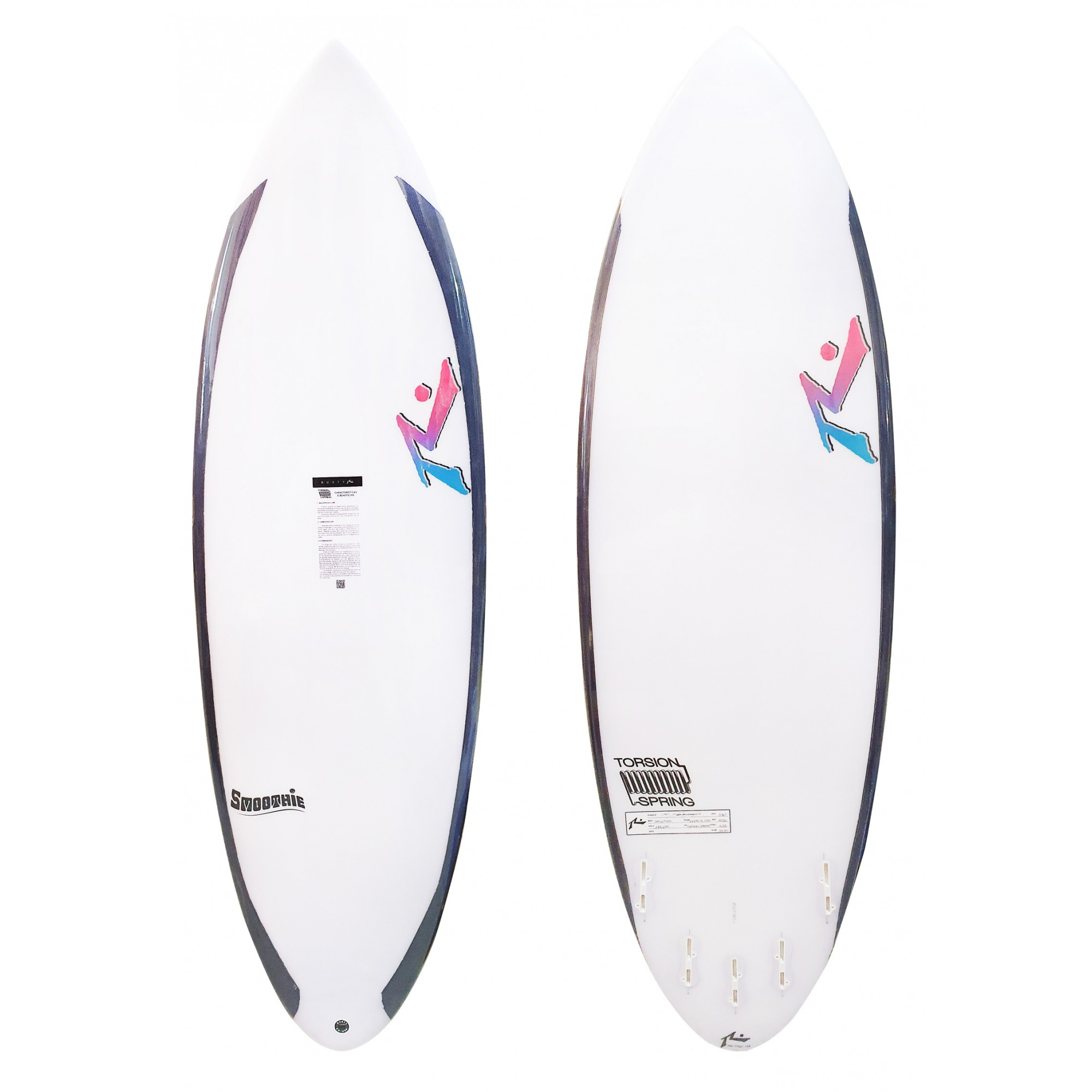 Rusty 5'10'' Smoothie Torsion Spring FCS II