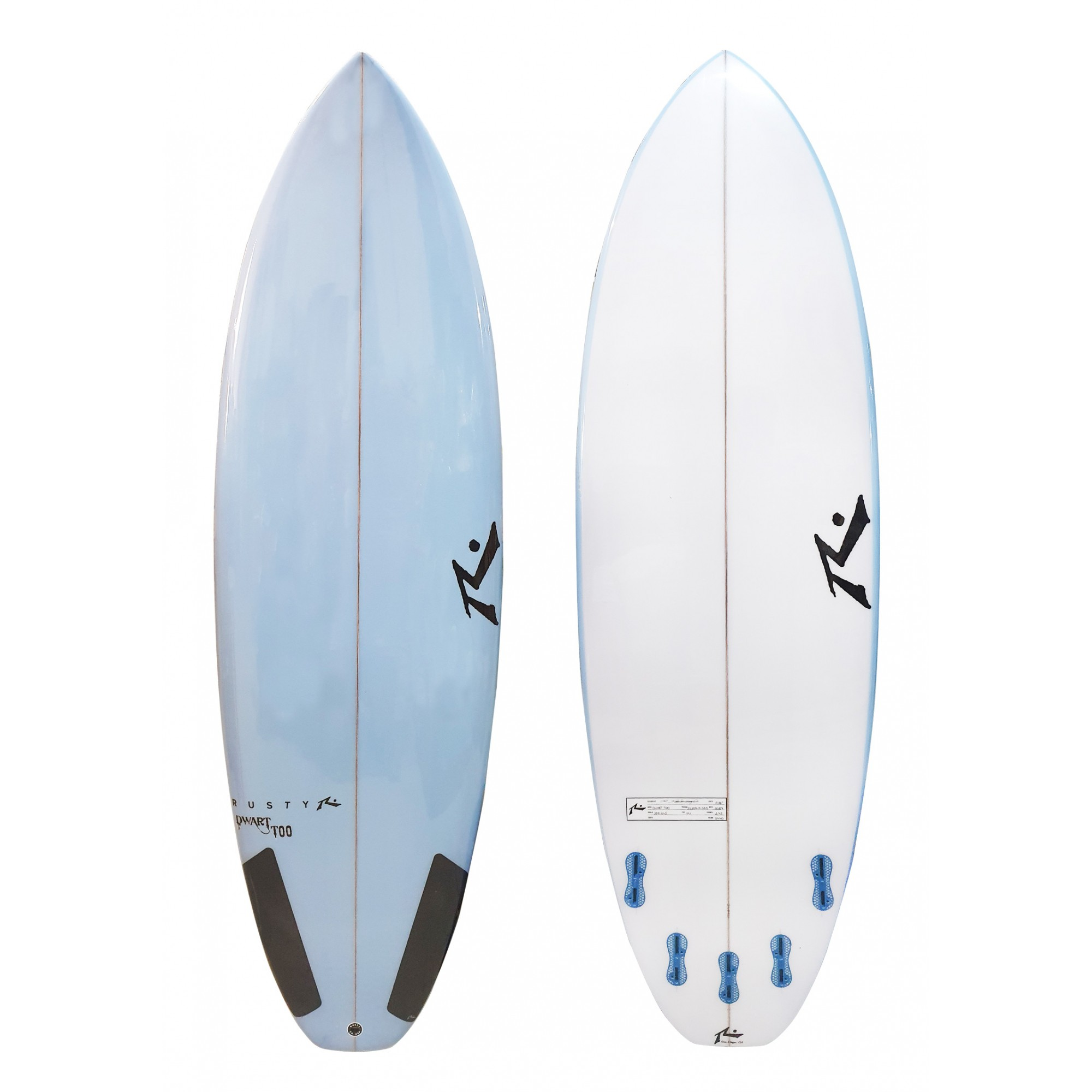 Rusty 5'11'' Dwart Too FCS II