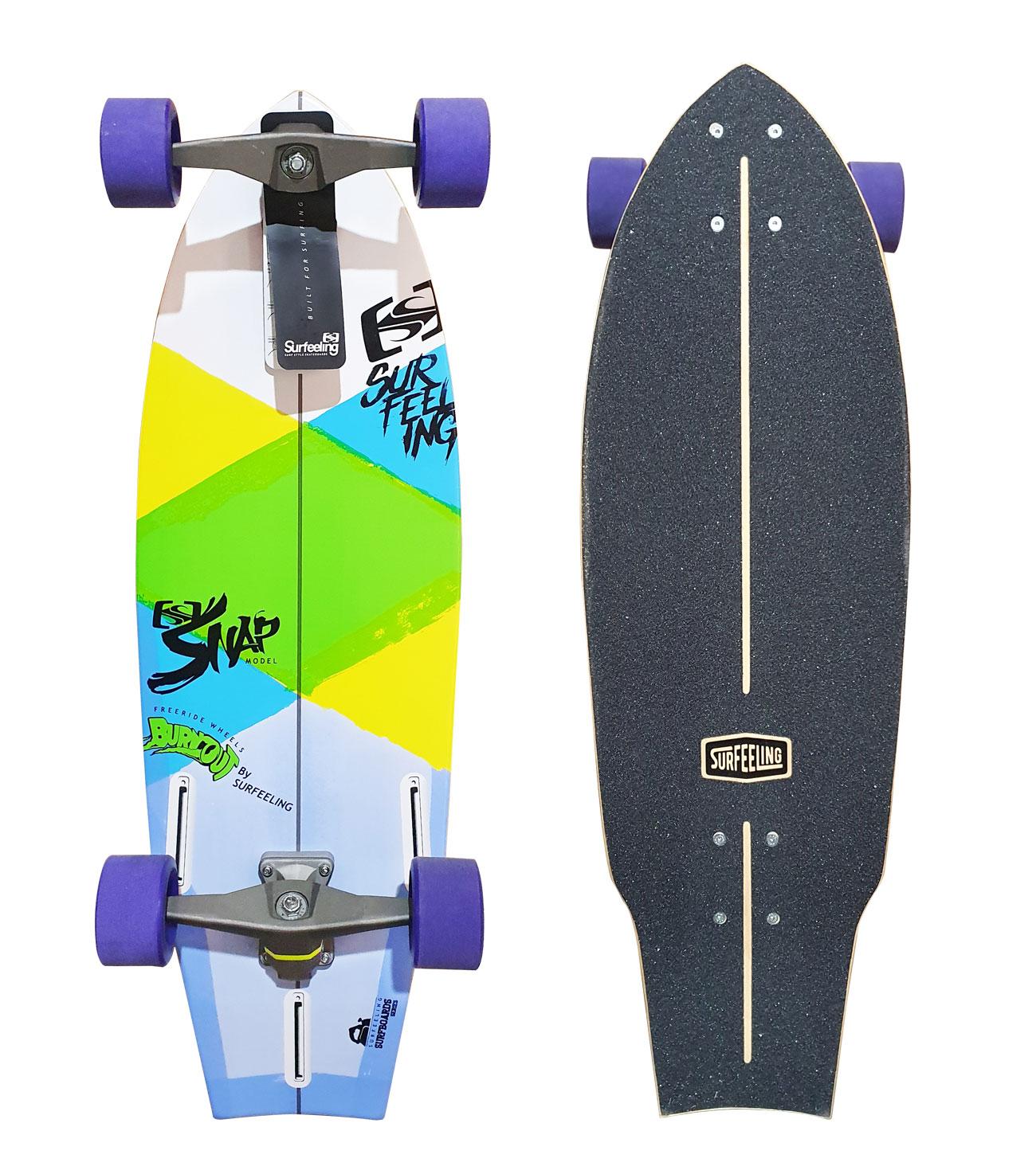 Simulador De Surf Skateboard Surfeeling Snap New