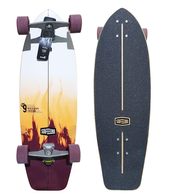 Simulador De Surf Skateboard Surfeeling Tatiana Weston Webb