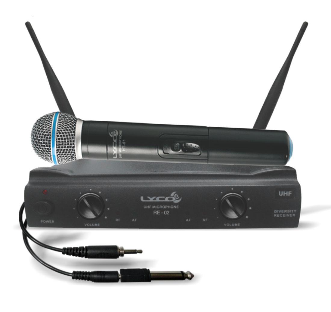 Microfone s/ Fio de Mão / Headset / Lapela e Instrumento UH 02 MHLI - Lyco