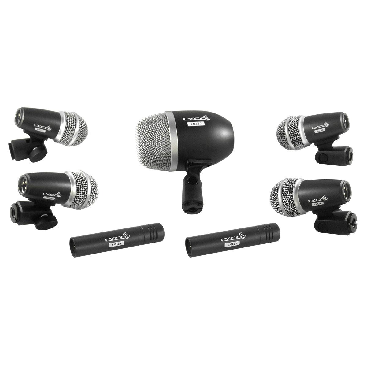 Microfone c/ Fio p/ Bateria (7 Unidades) LDK 7 PRO - Lyco