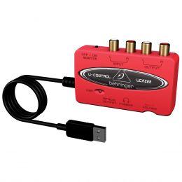 UCA222 - Placa de Som / Interface de �udio USB U Control UCA 222 - Behringer