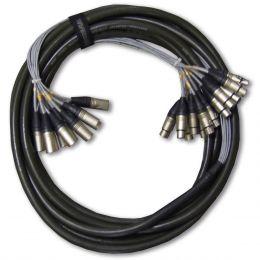 Multicabo 12 Vias XLR ( Balanceado ) p/ Bateria 10 Metros - Wireconex