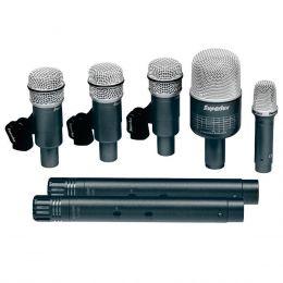 Kit 7 Microfones c/ Fio p/ Instrumentos DRK B5 C2 - Superlux