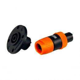 Plug Kit Speakon Mac Linha + Femea Painel NL4FC CSR